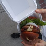 The burger that the cops were called over yet given away for free to someone else.