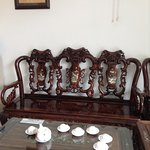Lovely ornate furniture in reception & rooms,very heavy too!