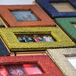 Handmade beaded photo frames