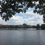 View of Vltava River from Kampa Park