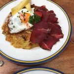 Rosti with dried meat