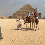 Camel ride at the Step pyramid