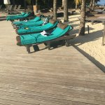 Loungers and deck are at the main pool
