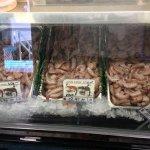 The fresh Pink Shrimp at Trico Shrimp Co.