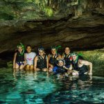 cave cenote with our Kay Tours guide
