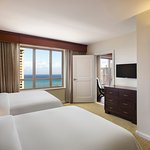 Ocean view suite, two double beds