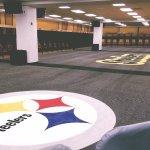 Steelers locker room, taken on tour