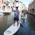 Family SUP through Venice canals
