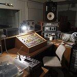 The broadcasting studio