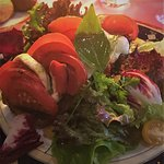 Mozzarella, Tomates et Olive, en Bruchetta.