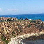 Looking back at Terranea from trail