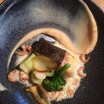 kabeljauw met garnaaltjes, broccoli en een sausje van vadouvan