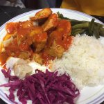 chicken iskender kebob