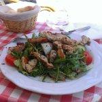 Gemischter Salat mit Putenbruststreifen