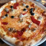 italian sausge, black olives, roasted red pepper