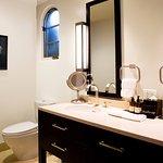 Double vanities & NB custom bath amenities.