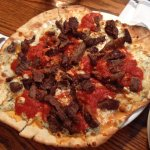 Steak and Blue Cheese Flat Bread