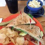 Kids turkey and cheese. Special of the day Avocado BLT with Mac 'n cheese!