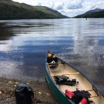We had lunch at the head of Loch/River Oich