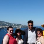 With Francesco our driver overlooking Sorrento