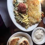 Fabulous breakfast. Spicy Fiesta scramble one of the best egg dishes I have ever had. I would re
