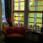 Gorgeous windows in the Gamay room.