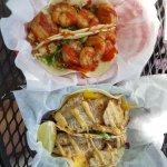 Yum Yum Shrimp and Cayo Fish tacos