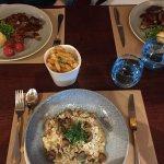 Lamb and risotto dish
