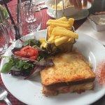 Croque monsieur et cheese bacon burger 😝😋
