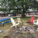 Picnic tables, Adirondack chairs and nightly bonfires in the courtyard