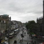Looking down Princess Street from hotel room