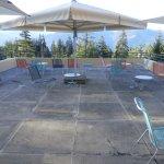 Reception level sun deck