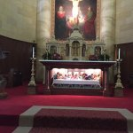 Main altar, last supper in front of altar table