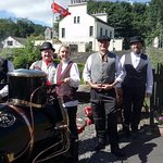 The volunteers in full Victorian costume