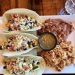 Fabulous zucchini tacos at the Summit House restaurant.
