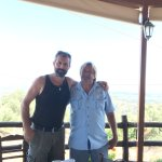 In the mountains with a local sheepherder Spiros.