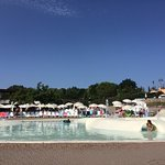 The lagoon pool. All the best sun loungers and sun-shades have gone 9.10am