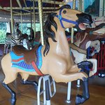 Another horse on the Wheaton Park carousel