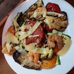 Grill Vegetables with Shrimps.....