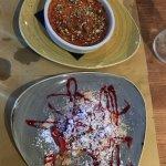 Pistachio Creme brulee and Milefoglie