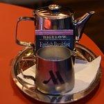 Beautiful tea at breakfast