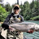 Look at this monster Silver Salmon. At Bowman's bearcreek Lodge in Hope Alaska.