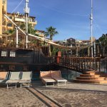 Pirate Ship Bar by the pool