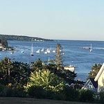View from the main house looking down Boothbay Harbor