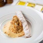 Nougat, Ligurian Honey and Almond Milk Semifreddo, Nut Shop 1939 Vienna Candied Almonds, Crostol