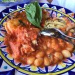 Gnocchi, ravioli with provola cheese, rugola / rocket and mozzarella, fusilli, cannelloni with m