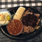 BBQ Plate with Potato Salad and Baked Beans