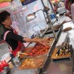 Lines of Street Food Vendors