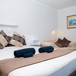Queen Room. All rooms have Ensuite, Fridge, Microwave, Reverse Cycle AirCon & Tea/Coffee facilit