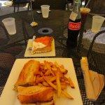Prosciutto and cheese sandwich